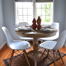 Eclectic Dining Room by BRIAN PAQUETTE INTERIORS