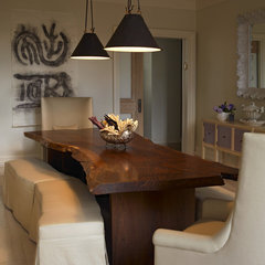 eclectic dining room by Kathryn Scott Design Studio Ltd
