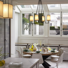 Eclectic Dining Room by Kathryn Scott Design Studio Ltd
