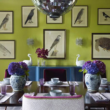 contemporary dining room by Vendome Press