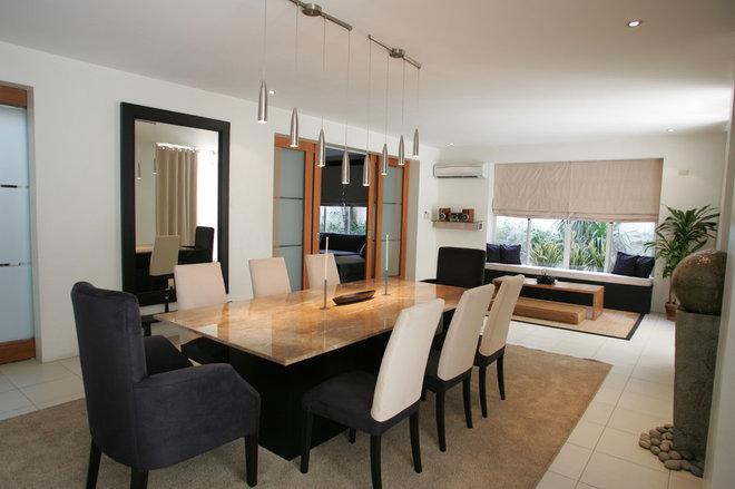 Contemporary Dining Room by Karen Maximo-Fernando