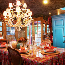 Eclectic Dining Room by Kelly Mack Home
