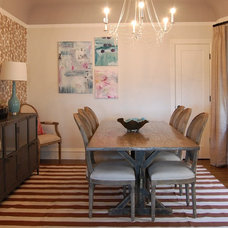 eclectic dining room by Kelly Scanlon Interior Design