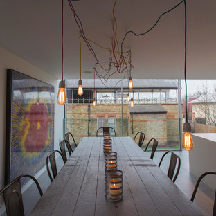 Trendy Kitchen Dining Room Combo Photo In London