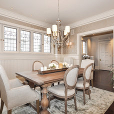Transitional Dining Room by Laura Potter Designs