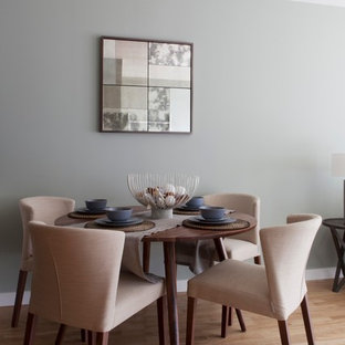 This is an example of a modern dining room in London.