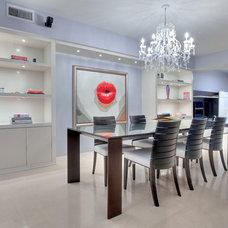 Contemporary Dining Room by Corners Interior Design, LLC.