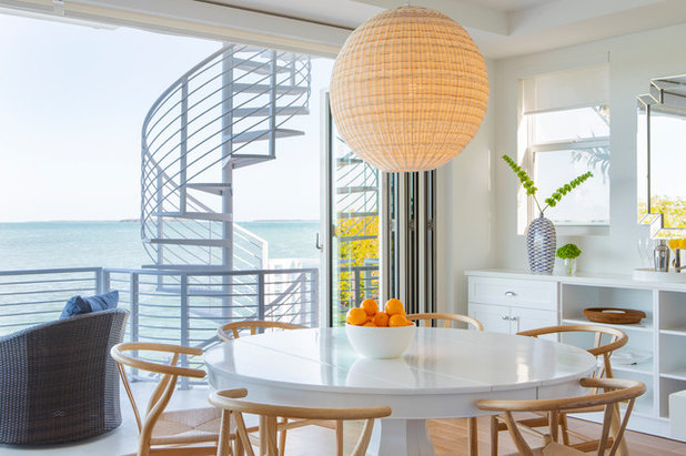 Beach Style Dining Room by Interiors by Maite Granda