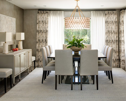 Great Transitional Dining Room Idea In Los Angeles