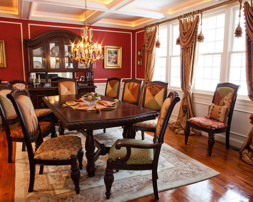 Eclectic dining room design ideas renovations photos for Dining room decorating ideas red walls