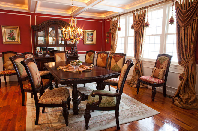 Eclectic Dining Room by KH Window Fashions, Inc.
