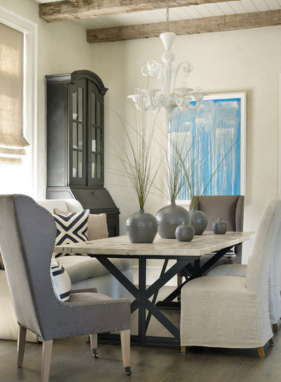 Beach Style Dining Room by Beth Webb Interiors