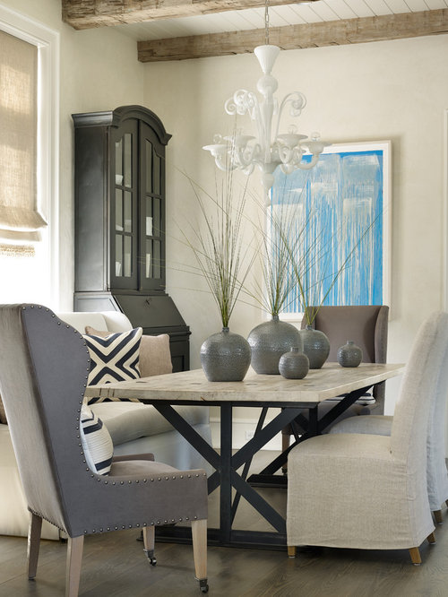 Beach style dining room design ideas pictures remodel for Beach dining room ideas