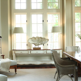 Example of a coastal dining room design in Charleston