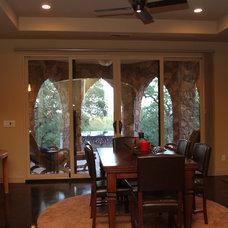 Traditional Dining Room by Landmark Builders