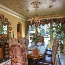 Mediterranean Dining Room by Michelle Williams - Inside Story Interiors