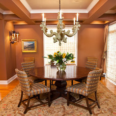 Traditional Dining Room by CHRISTY ROMOSER DESIGN