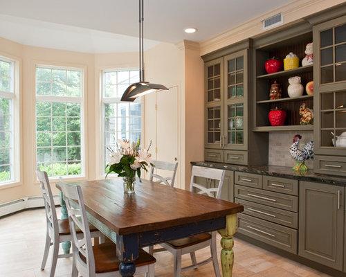 Landhausstil esszimmer mit oranger wandfarbe ideen design - Landhausstil wandfarbe ...