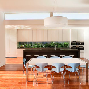 Design ideas for a contemporary dining room in Sydney.