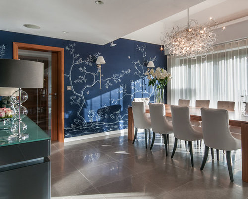 Houzz Wallpaper Dining Room: Asian Wallpaper