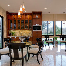 Contemporary Dining Room by Meni Design Group, LLC