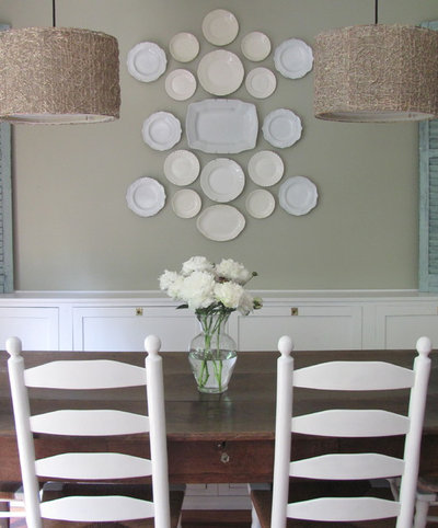 Eclectic Dining Room Kitchen Banquette
