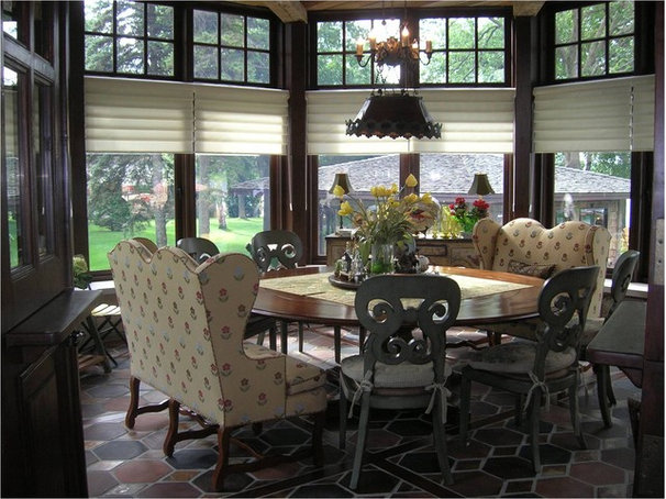 Traditional Dining Room by Gabberts Design Studio