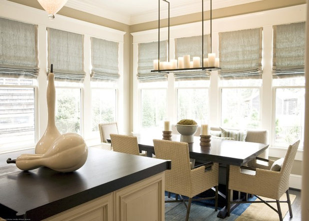 Transitional Dining Room by Brian Watford Interiors