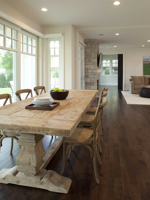 SaveEmail. Trestle Salvaged Wood Dining Table   Houzz