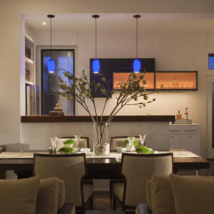 Example of a trendy great room design in Minneapolis