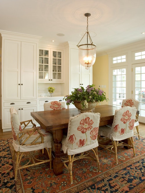Traditional Dining Room Idea In New York With Yellow Walls