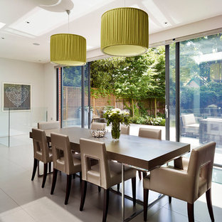 Dining room - contemporary dining room idea in London