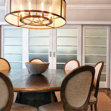 Transitional Dining Room by DeRosa Builders LLC