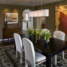 Contemporary Dining Room by Fisher Group LLC