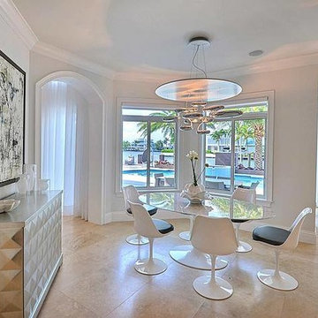 Kitchen, formal dining and living room