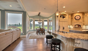 Kitchen + Informal Dining Nook - The Party Palace - Custom Ranch on Acreage