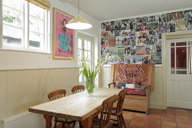 Eclectic Dining Room by Life on a Wall