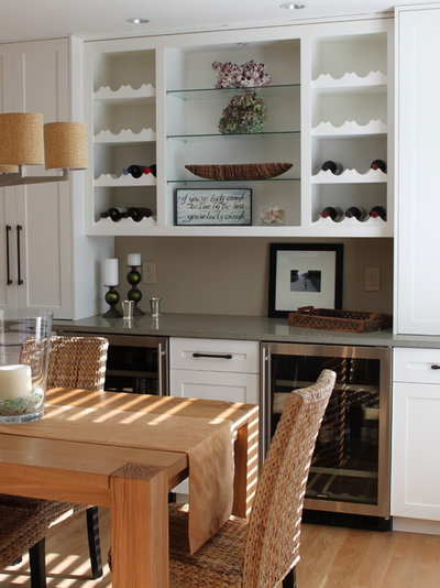 Transitional Dining Room by Molly Frey Design