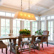 Transitional Dining Room by AJ Margulis Interiors