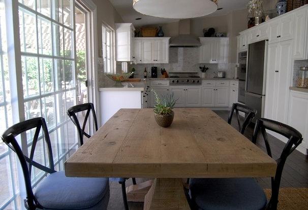 Transitional Dining Room by Dana Nichols