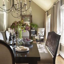 eclectic dining room by Taste Design Inc