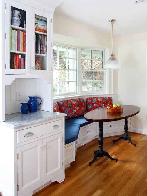 Elegant Medium Tone Wood Floor And Brown Floor Kitchen/dining Room Combo  Photo In DC Part 78