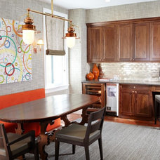 Transitional Dining Room by Kitchen Designs by Ken Kelly, Inc. (CKD, CBD, CR)