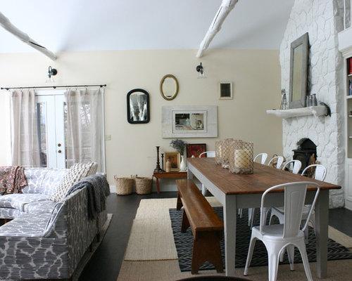 Sala Da Pranzo Shabby : Sala da pranzo shabby chic style con pareti beige foto idee