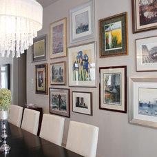 Contemporary Dining Room by KMSalter Design