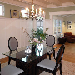 traditional dining room by Klopf Architecture