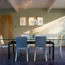 Midcentury Dining Room by Klopf Architecture