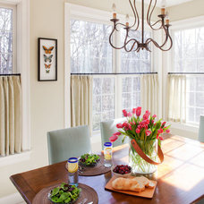 Eclectic Dining Room by Kate Maloney Interior Design