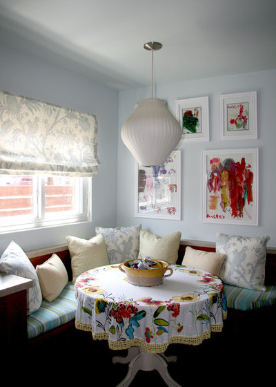 Eclectic Dining Room by Knapp Interiors, Inc.