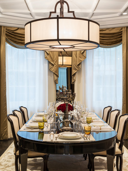 Transitional elegant lighting home design ideas photos - Transitional dining room chandeliers ideas ...
